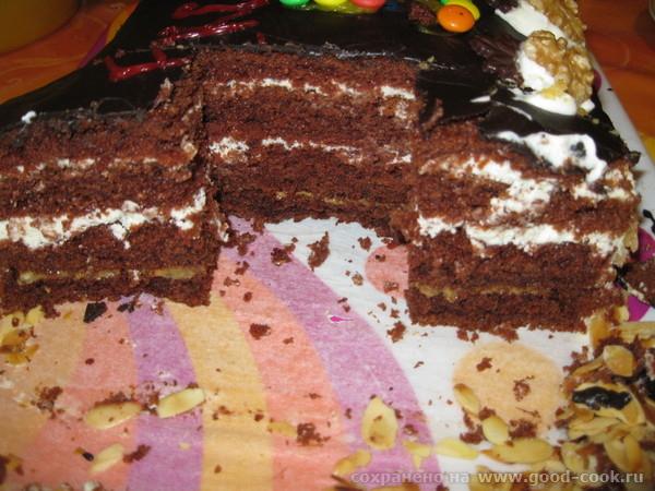 """Спасибо Лиде-Саяногорочке за удачный рецепт торта """"ШОКОЛАД НА КИПЯТКЕ"""" Делала торт - 2"""