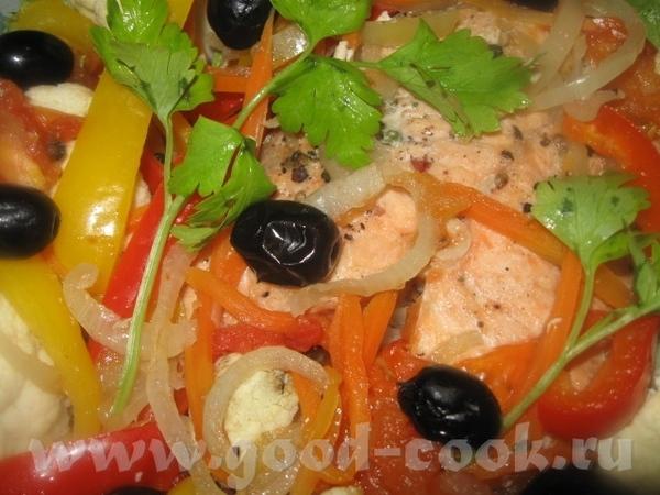 СЁМГА С ОВОЩАМИ, ПРИГОТОВЛЕННАЯ В МИКРОПЛЮСЕ Вкусное, нежное, сочное и полезное блюдо
