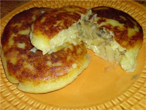 Картофельные блинчики(пирожки) с капусткой и грибами 6-7 средней велечины картошки(отварить в мунди... - 2