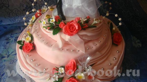 .А это мой первый свадебрый торт 10кг.