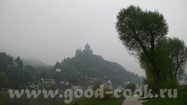 Утро над Мозель: Кохэм, замок на берегу, в утреннем тумане: Замок Эльз, находится немного в стороне... - 5