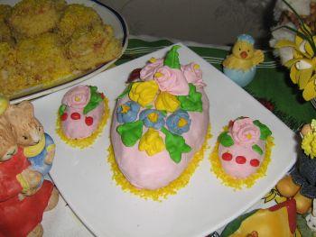 очень красиво А это я с пасхальным тортиком