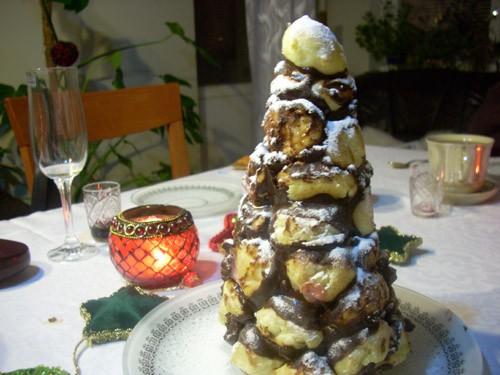 Крендель с начинкой Paris- Brest Итальянский орехово-шоколадный торт Ёлочка из профитролей с малино... - 3