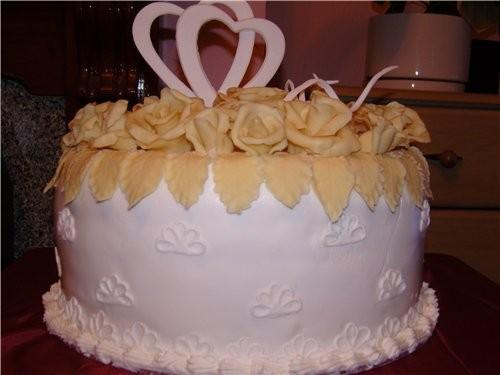 мои первые свадебные торты, kotorye delala dlya podrugi vchera - 3