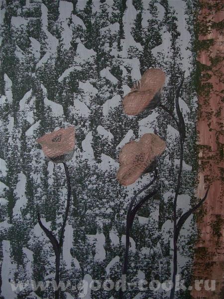Еще цветочки мастихином Моя любимая картина
