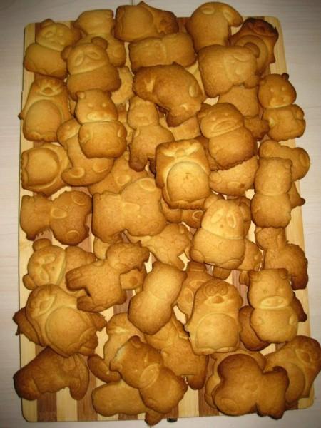 Фахришкины печенья (помогал мне их делать мой трёхлетний сынулька Фахри) 1,5 стак