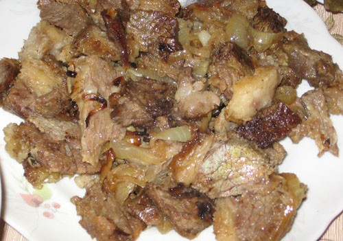 Ароматное мясо Даже не знаю нужно ли писать рецепт, все очень легко: 1 кг говяжьего мяса (мне попал... - 4