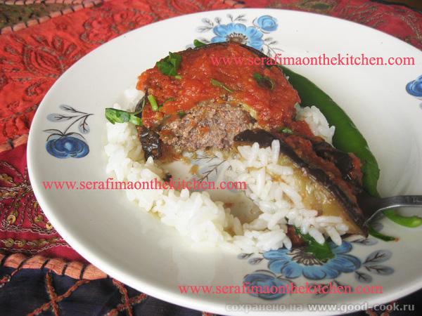 мсакка -запекнка с баклажаном и мясным фаршем