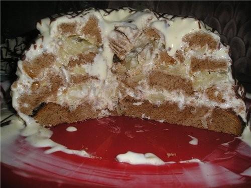 Торт ПАНЧО в разрезе Для приготовления потребуется: 6 яиц 3 стакана сахара 1/3 чайной ложки соды 4... - 2