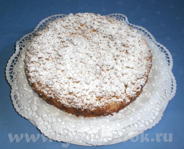 Яблочный пирог (рецепт взят из немецкого журнала) Мука – 400г Сахар – 275г Ванилин – 1 пакетик Масл...