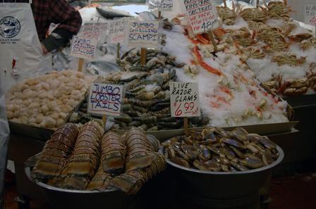 А это уже сам город: Рыбный рынок: - 3