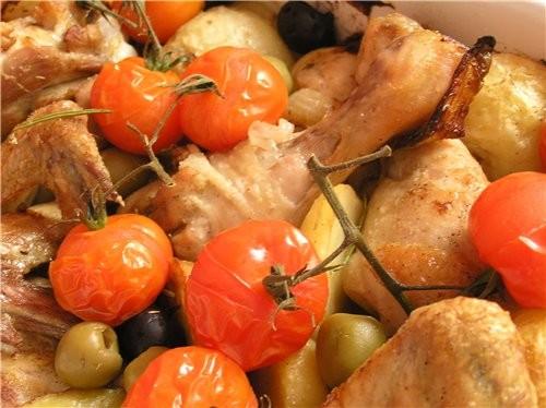 Курица с картофелем, помидорами и оливками по-средиземноморски - 2