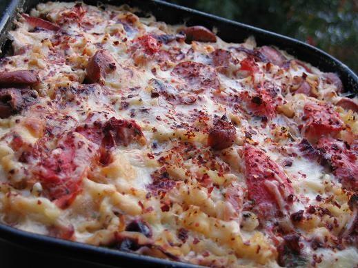Салат поппрури из баклажан запеканка с лапшой и ветчиной овощной пирог с колбасой - 2