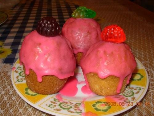 """пекла свой любимый кекс """"Наслаждение"""", в етот раз в формочках для кексов и Королевской - 3"""