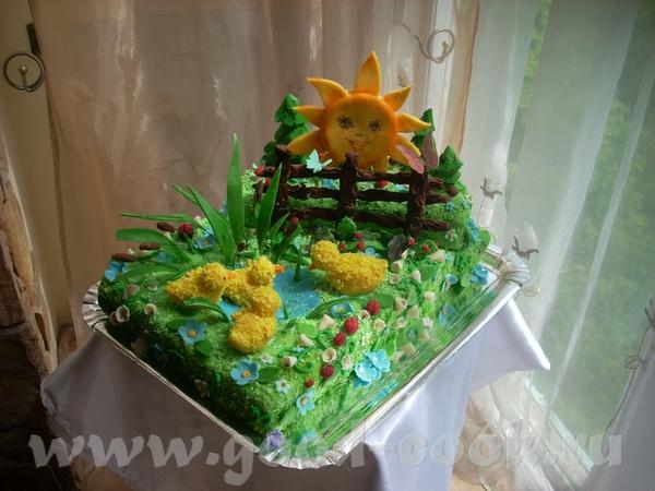 Тортик для ребенка который любит уточек и солнышко