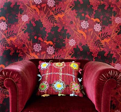 """а , и ещё видела в одном из номеров """"Идей вашего дома"""" одно оригинальное решение )) красны цвет + к..."""