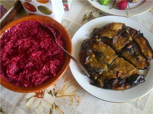Бураковый салат и Баклажаны в кляре