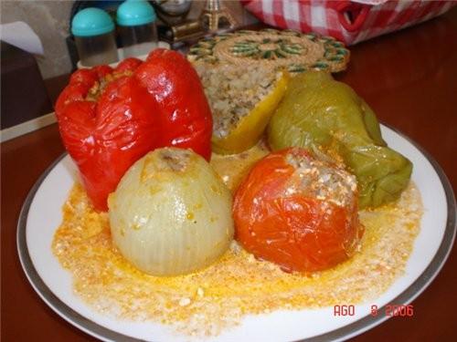 Я сегодня сделала Перцы фаршированные и ещё лук ,и помидоры - 2