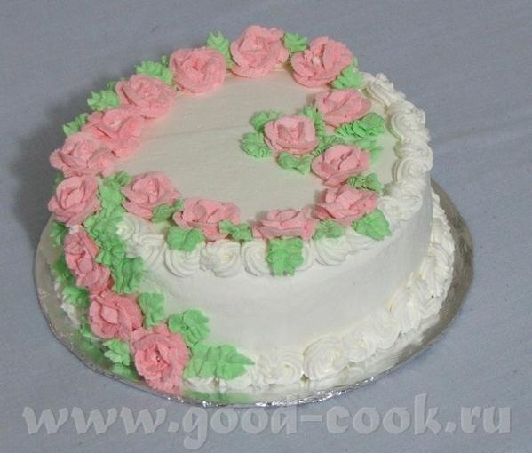 а это мой вчерашний срочный заказ, не люблю когда на завтра торт заказывают, торт на день рождение... - 2