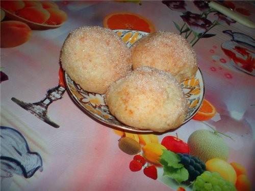 Творожные булочки (или печенье) Пачка маргарина (250 г), 250 г творога, 1 ч