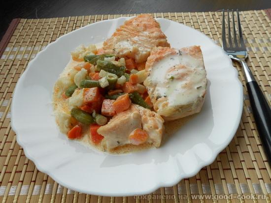 рыбы-шуба-белый соус