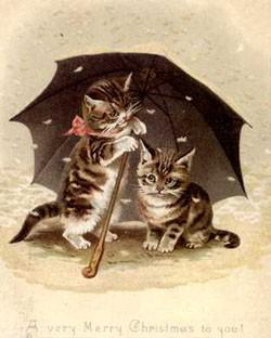 у меня есть коллекция натасканых открытокс кошками, может найдется - 2