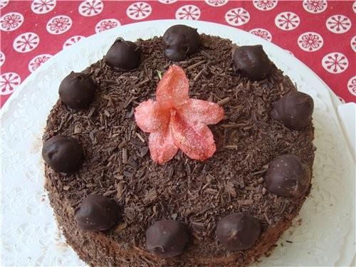 """Принесла спасибку Мишель за ее торт """" Трюфель """" Делаю уже второй раз этот торт"""
