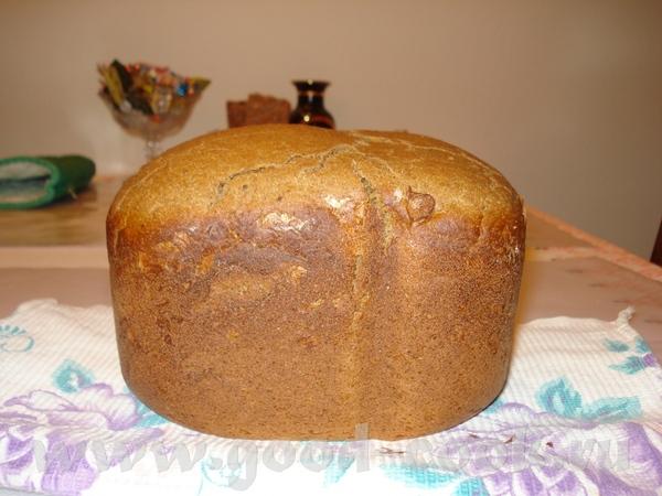 Вот мой первый хлебушек из ржаной муки Ржаной хлеб на сухом квасе и ряженке Дрожжи сухие - 1 1/4 ч