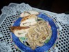 грибы под нежным майонезным соусом