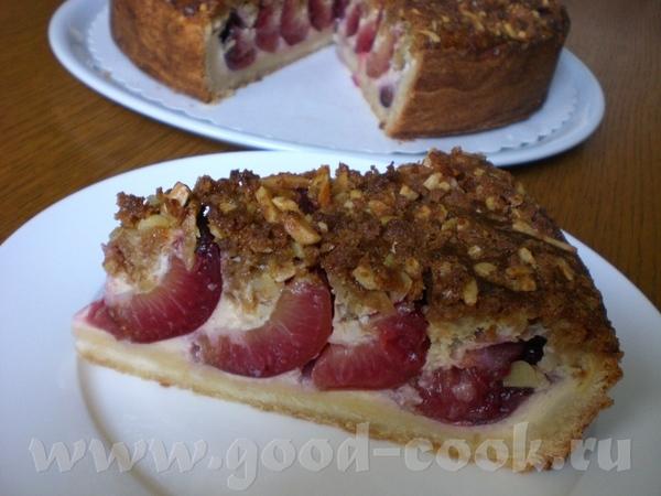"""Knusperstreusel """"Piemont"""" Хрустящая крошка «Piemont» (миндально-сливовый пирог со штройзелем)"""