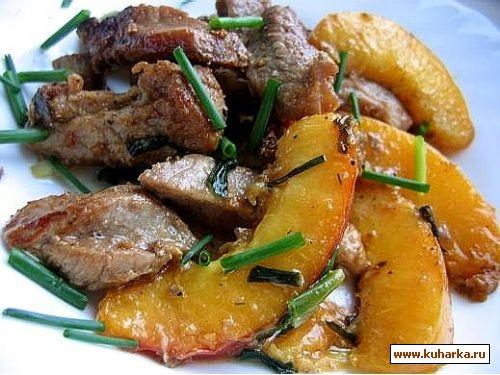 свинина с нектарином 500 гр свинины-шейка или лопатка с жирком 1-2 нектарина перец,соль,специи,раст