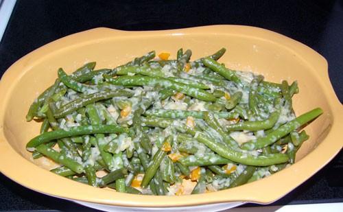 Фасоль зеленая стручковая с сыром Asiago