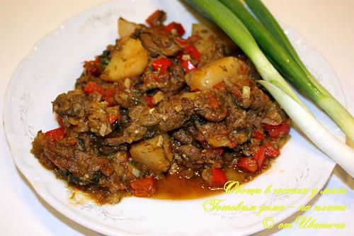 Овощи в гостях у мяса (по мотивам аджаб-сандала) Строго говоря, аджаб-сандал, аджабсандали … блюдо...