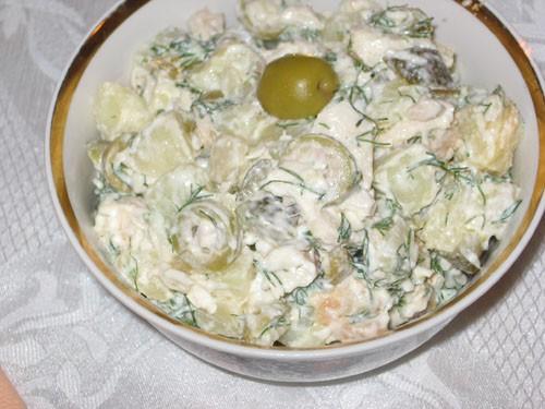 Таня, я со спасибами: Большое спасибо за вкусные салаты: Петегроф от Салат с курицей, сухариками и...