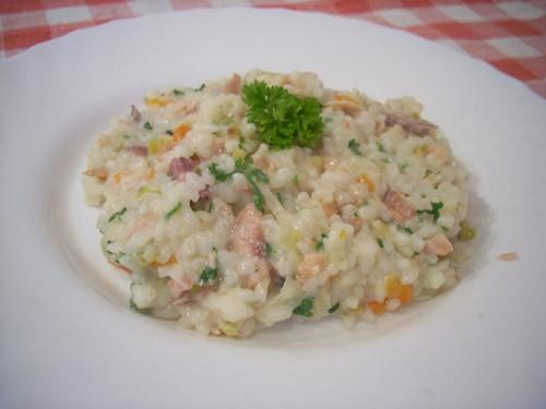 Классический тайский жареный рис Ризотто с лесными грибами Ризотто с копчёной рыбой и пореем Ризотт... - 3