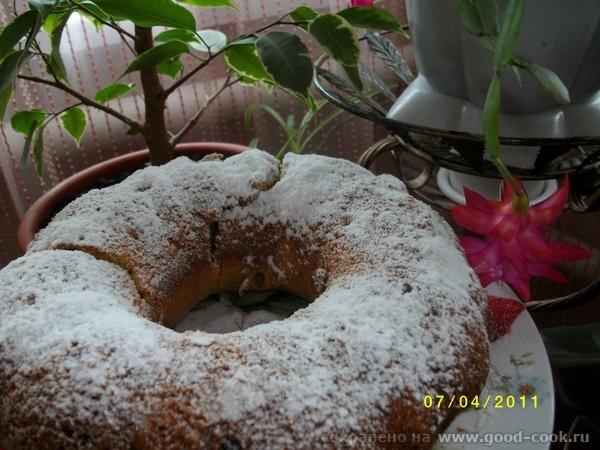 спасибо Ирине Кутовой за сметанный кекс с изюмом всей семье очень понравилось