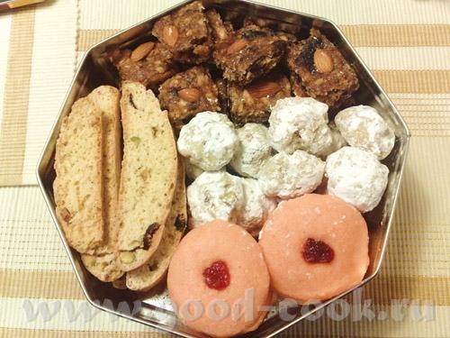 """Рождественская подарочная выпечка была следующей: печенье """"снежки"""" и желейное печенье от Ирины Jazz..."""