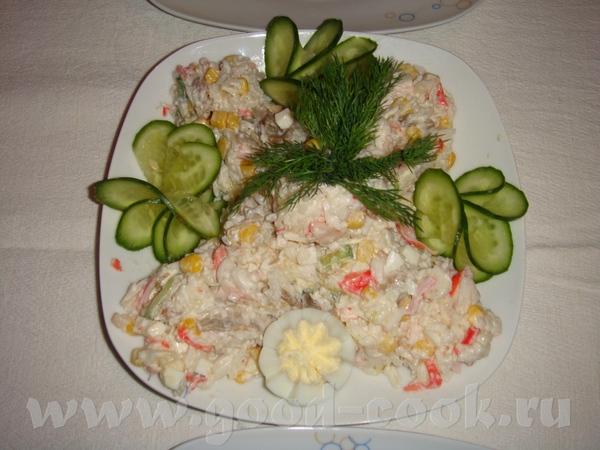 """селедка под шубой, с вот такой коровкой мимоза с горбушей крабовый салатик с грибами """"оливье"""" салат... - 3"""