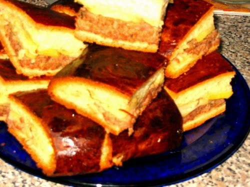 и пирог с картошкой и фаршем