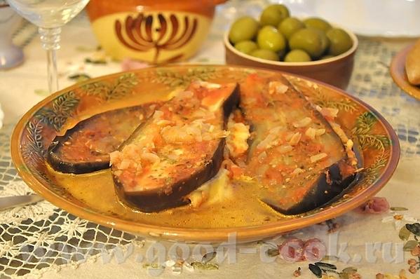 Тушёные баклажаны с сыром кефалотири