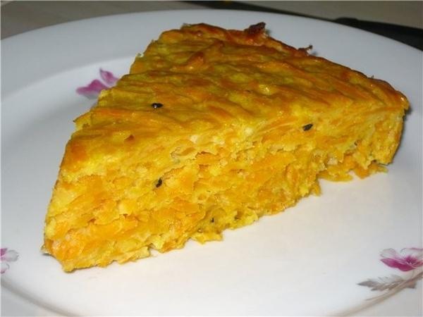 по мотивам рецепта от nikolavna с котлетами из тыквы Тыквенно-сырный пирог 1