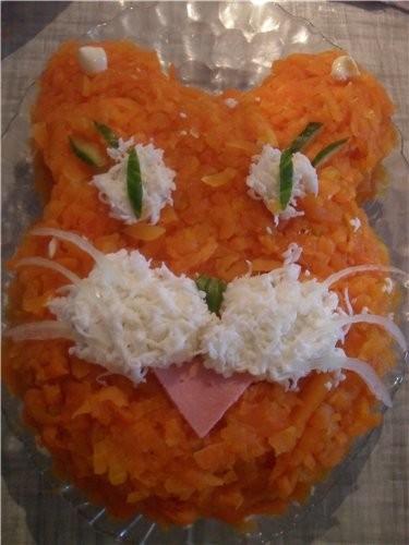 """Салат """"Тигренок"""" от Анастасии Скрипкиной ( с сайта good-cook) Ингредиенты 400 г картофеля 200 г кол... - 2"""