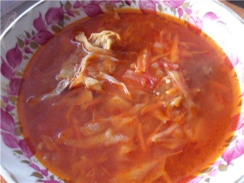 А это мы сегодня кушали Борщ из квашенной капусты Яичница с салом и луком И еще угощайтесь Малина с...