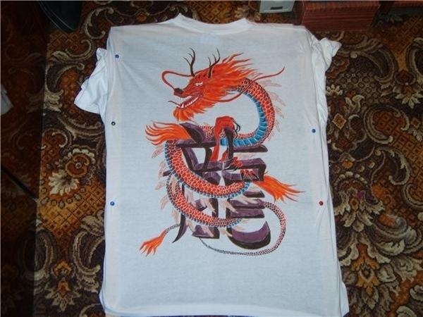 сфоткать никак не получается))вот мои пробы на футболках купила 5 шт