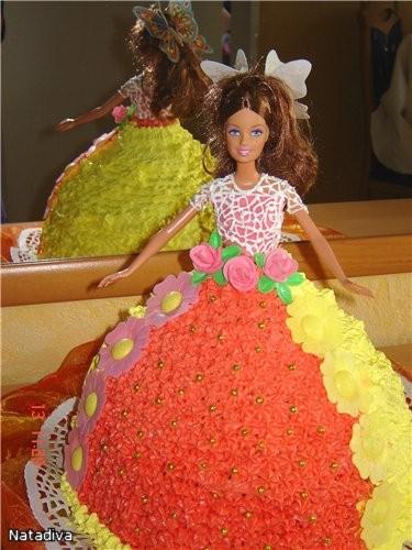 Девочки выставляю свой тортик который пекла вчера, девочке на пять лет