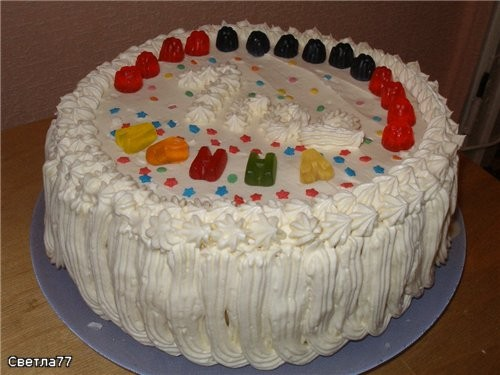 Девочки, принесла вам показать свои 2 первых тортика, делала их на годик своей дочке Конечно, они н... - 3