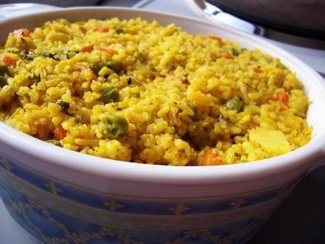 таири красный рис с зеленой фасолью персидский рис с зеленью рис с капустой и специями