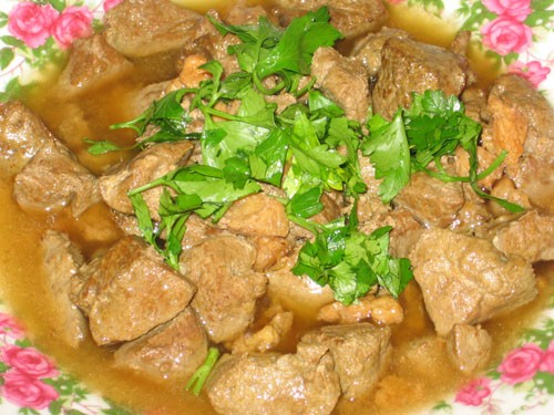 Думба джигар (Печенка с курдючным салом)