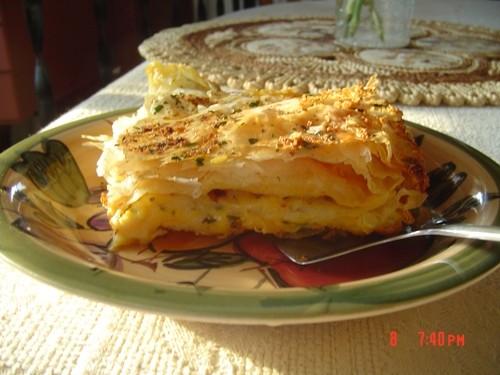 Сырный пирог с тесто фило - 2
