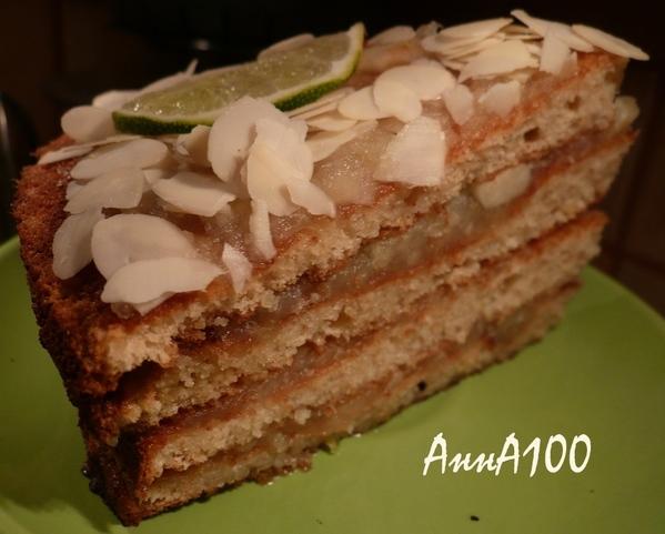 Сладкий пирог с миндалем